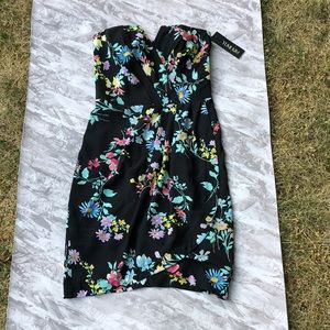 Yumi Kim Floral Silk Strapless Dress NWT